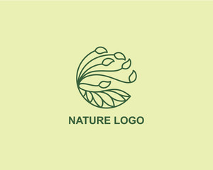 Nature Plant logo design concept, Agriculture Business logo design template