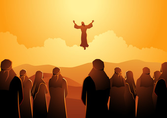 The ascension of Jesus Wall mural