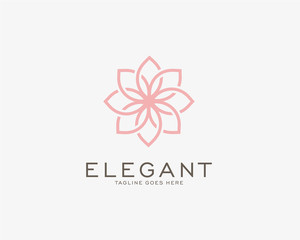 Luxury logo design concept, Flower lotus logo, Beauty or spa logo template