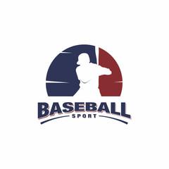Baseball logo vector design concept, Negative space logo, Sport logo design illustration