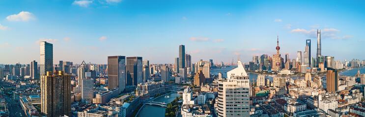 panorama of Shanghai City