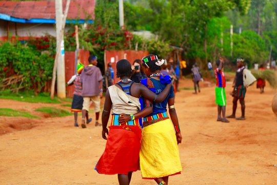 カイアファールの民族マーケット、エチオピア南部