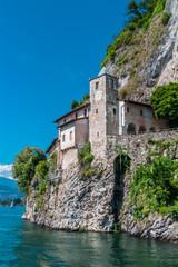 Santa Catarina hermitage, a Catholic Monastery on the edge of Lake Maggiore, Lombardy, Italy..