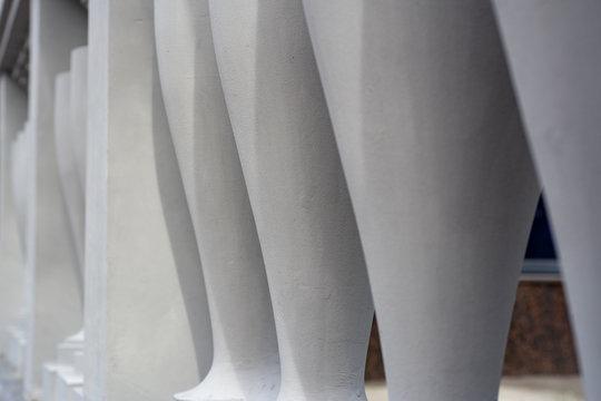 Row of white columns