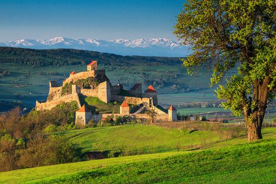 Wonderful medieval fortress in Brasov region, Rupea, Transylvania, Romania, Europe
