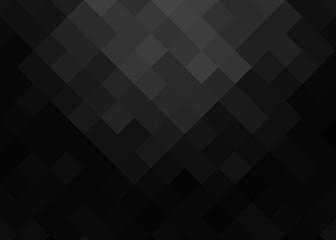 abstract gradient background in black and gray tones of squares