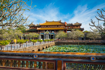Imperial Royal Palace of Nguyen dynasty in Hue, Vietnam. Unesco World Heritage Site. Wall mural