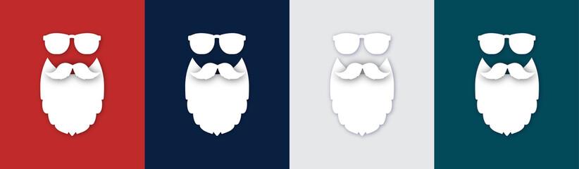 Weihnachtsmann Sammlung bunte Farben