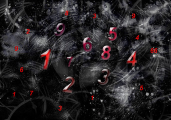 Space world of numerology