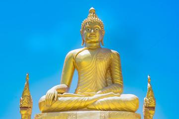 Golden Buddha next to the Big Buddha in Phuket, Thailand.