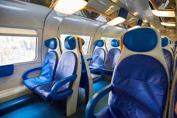 The interior of the European train