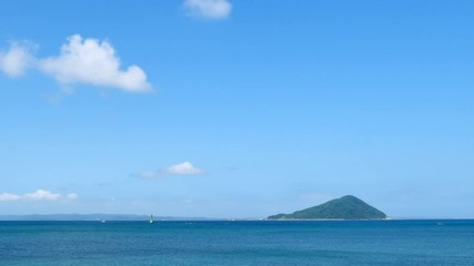 Wall Mural - 海と島 姫島 タイムラプス