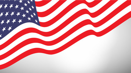 American  waving flag vector illustration