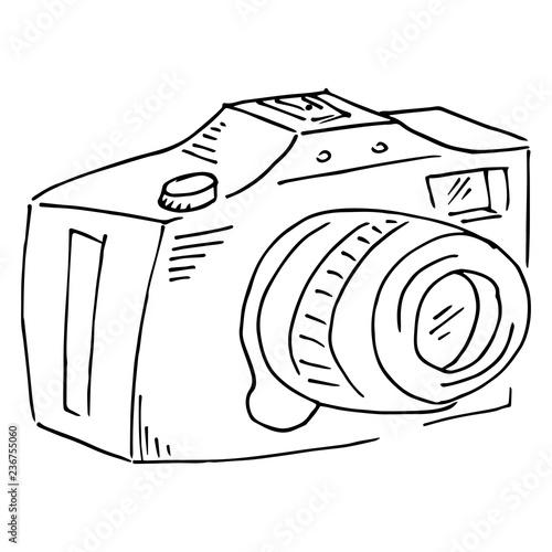 Camera Icon Vector Illustration Of A Camera Hand Drawn Camera