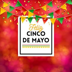 Red Cinco de Mayo Poster vector image