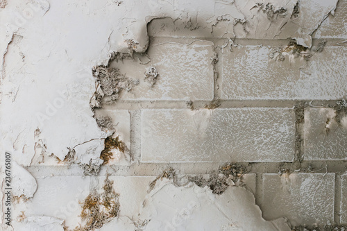 Texture of decorative plaster in the form of bricks and