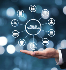 Cloud Computing. Information technology concept