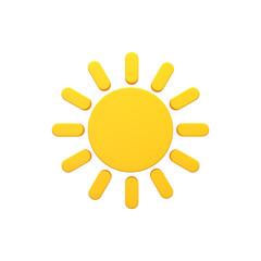 Sun 3d volumetric icon image isolated illustration