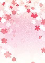 桜背景縦ピンク