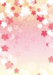 桜背景縦黄色系