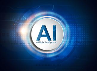 Fototapeta artificial intelligence technology