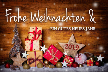 Frohe Weihnachten -  Grußkarte, Weihnachtskarte