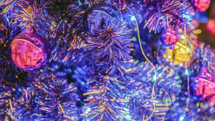 Christmas decoration on Christmas tree, decorazioi nataliazie albero di natale