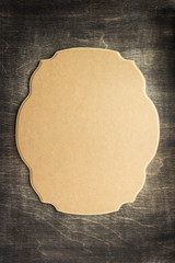 retro sign board at wooden background
