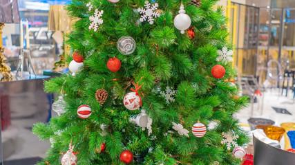 Christmas decoration on Christmas tree, decorazioni di natale