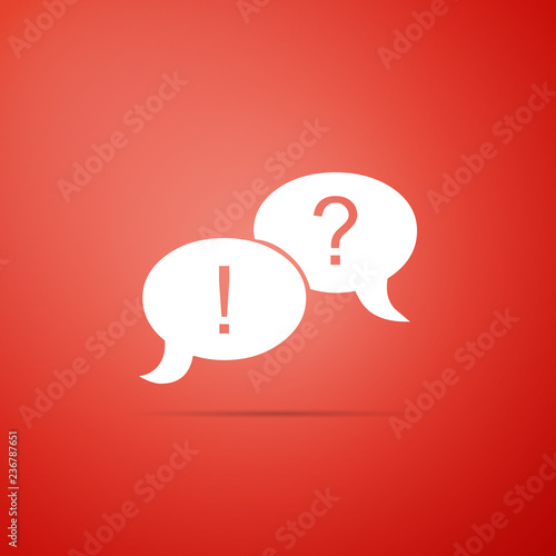 Speech Bubbles With Question And Exclamation Marks Icon Isolated On