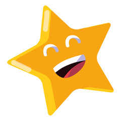cartoon happy star design