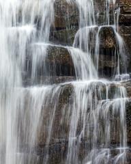 Water falls closeup.