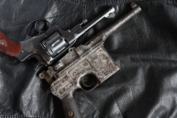 Old Revolver And Pistol