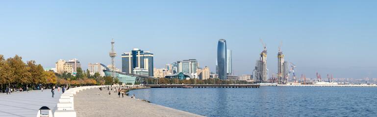 Bakou et la mer Caspienne, Azerbaïdjan Wall mural