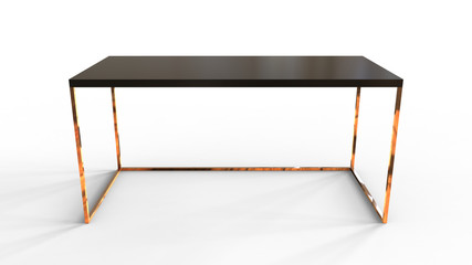 3D illustration of a modern office table