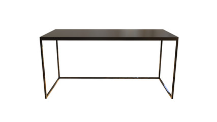 3D illustration of a modern office table isolated on a white background