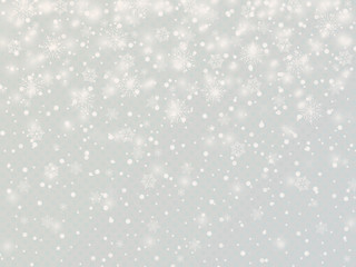 Winter background with snowflakes vintage vector holiday.