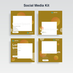set cover template. memphis style for social media