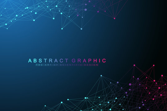 Global network connections with points and lines. Networking and Big Data visualization background. Futuristic global business. Vector Illustration