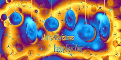 Sfondo di Natale e Capodanno con elementi geometrici