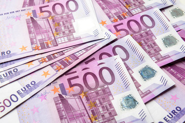 500 euro money banknotes background