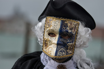 Wall Mural - Man wearing costume at Carnival of Venice