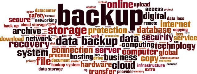 backup word cloud