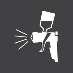 Airbrush icon vector