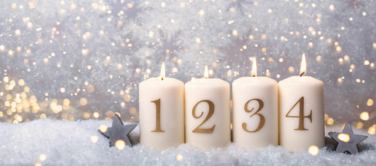 4.Advent Hintergrund Karte golden
