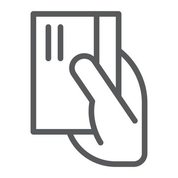 Payment line icon, banking and pay, card sign, vector graphics, a linear pattern on a white background.