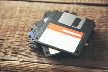 Fototapeta floppy disk on table obraz