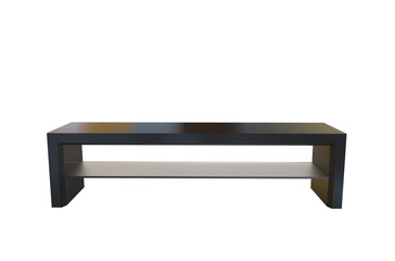 3 D illustration of a tv bench on a white background