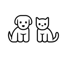 Puppy and kitten icon