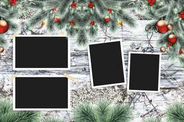 frame for a photo or a Christmas greeting card